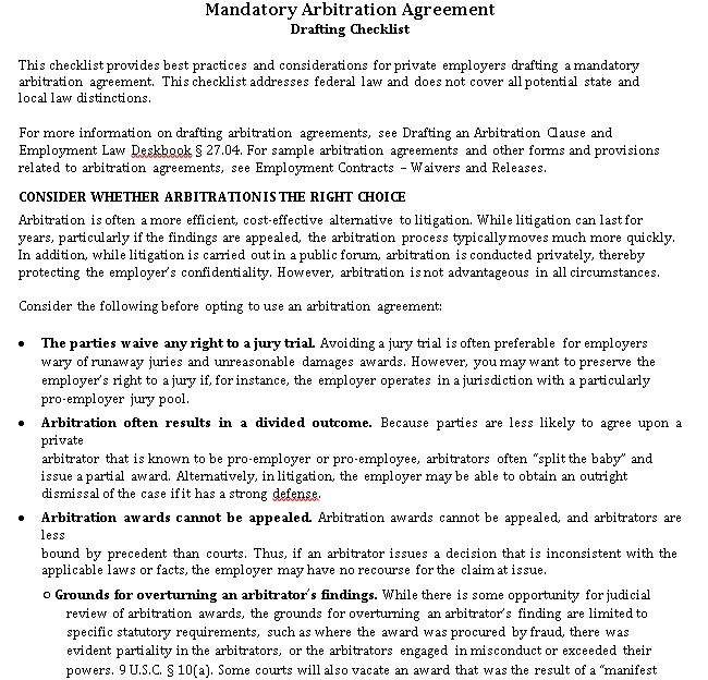 Mandatory Drafting Checklist
