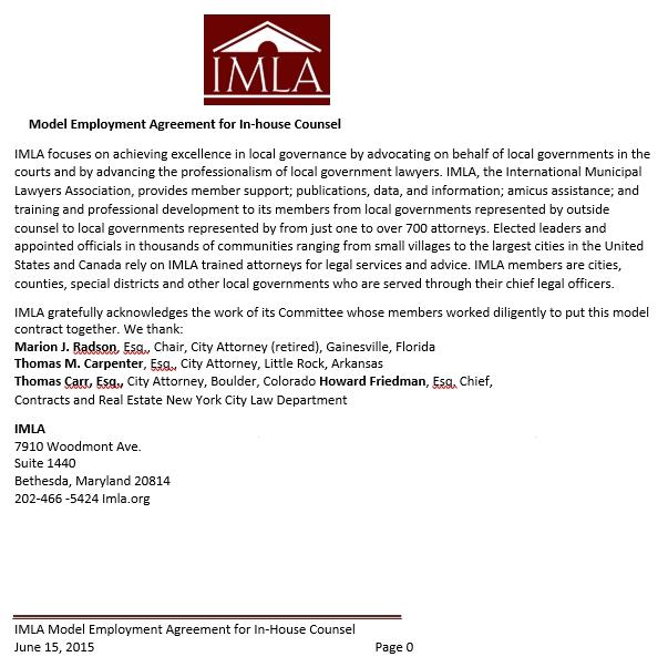Model Employment Separation Agreement Template