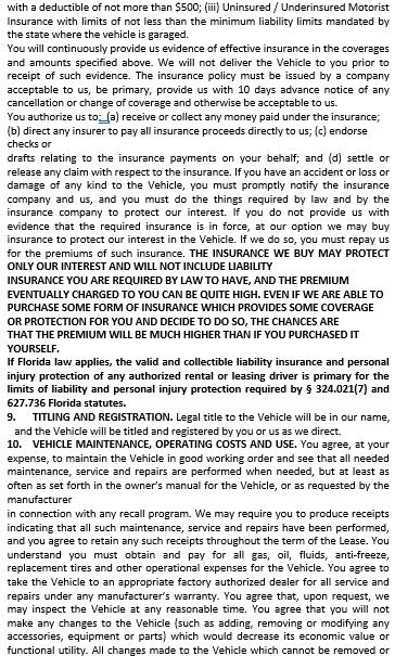 Motor Vehicle Blank Rental Agreement