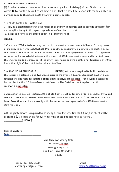 Photo Booth Rental Agreement Template