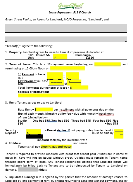 Professsional Church Lease Agreement Template