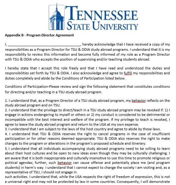 Program Agreement