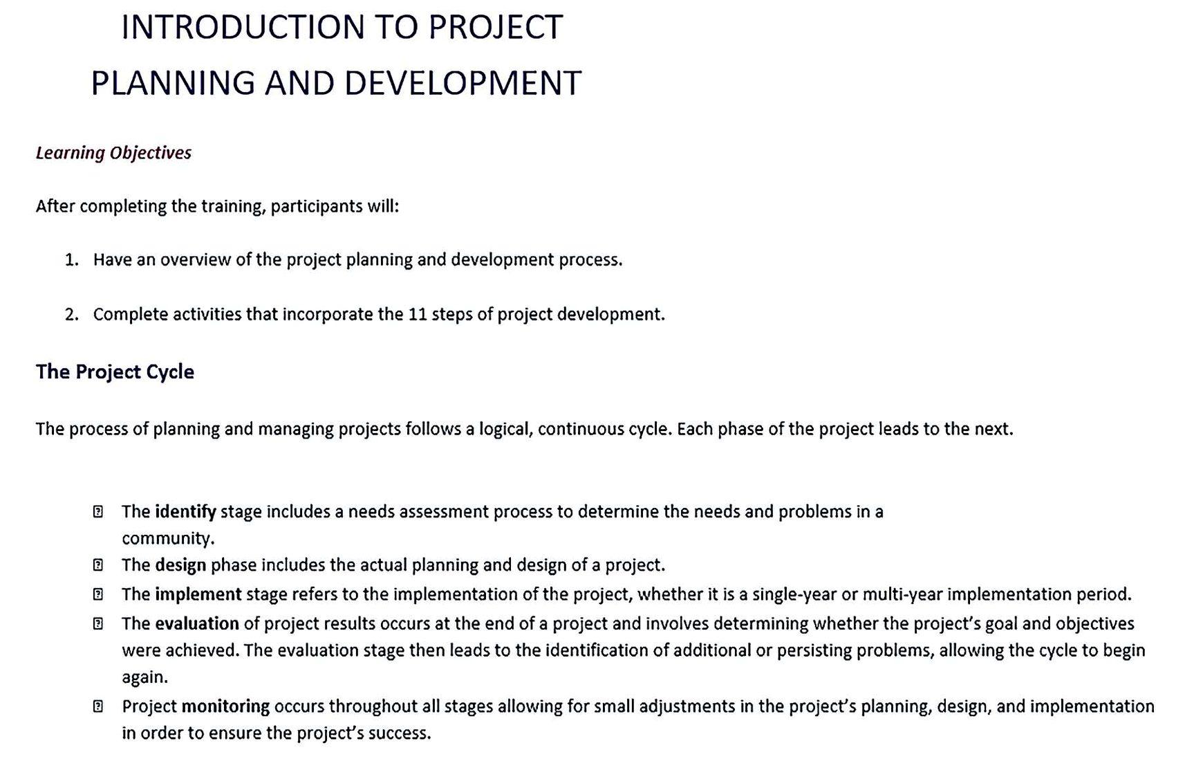 Project Development Plan in PDF