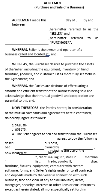 Purchase Sale Agreement