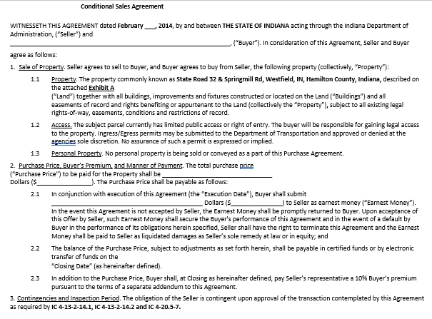 Real Estate Conditional Sales Agreement Template