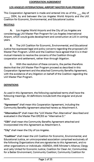 Sample Agreement