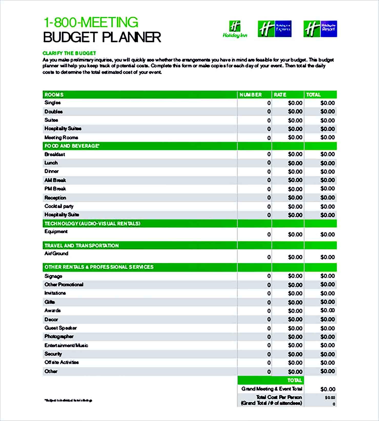 Sample Budget Planner 004