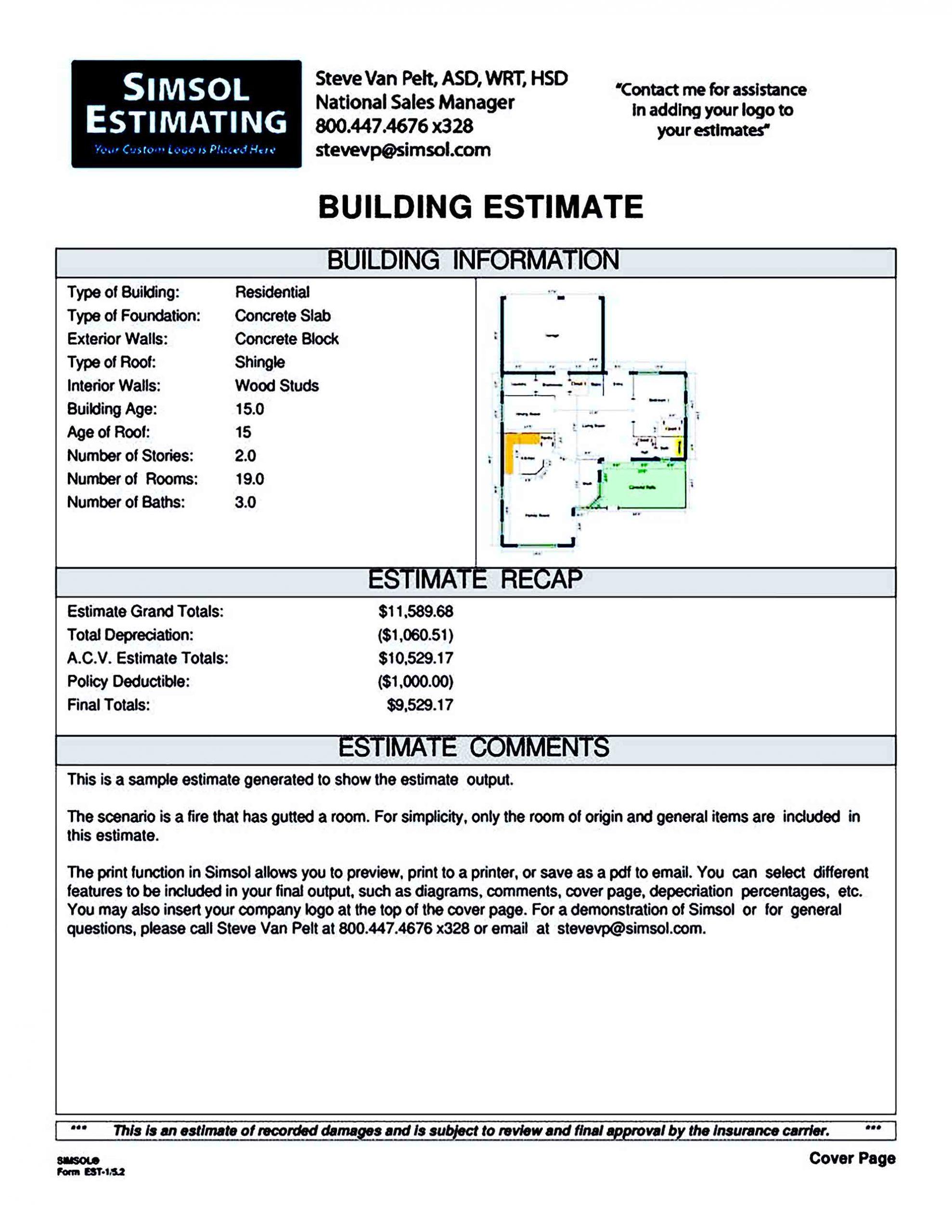 Sample Simsol Building Construction Estimate 1 788x1020 1