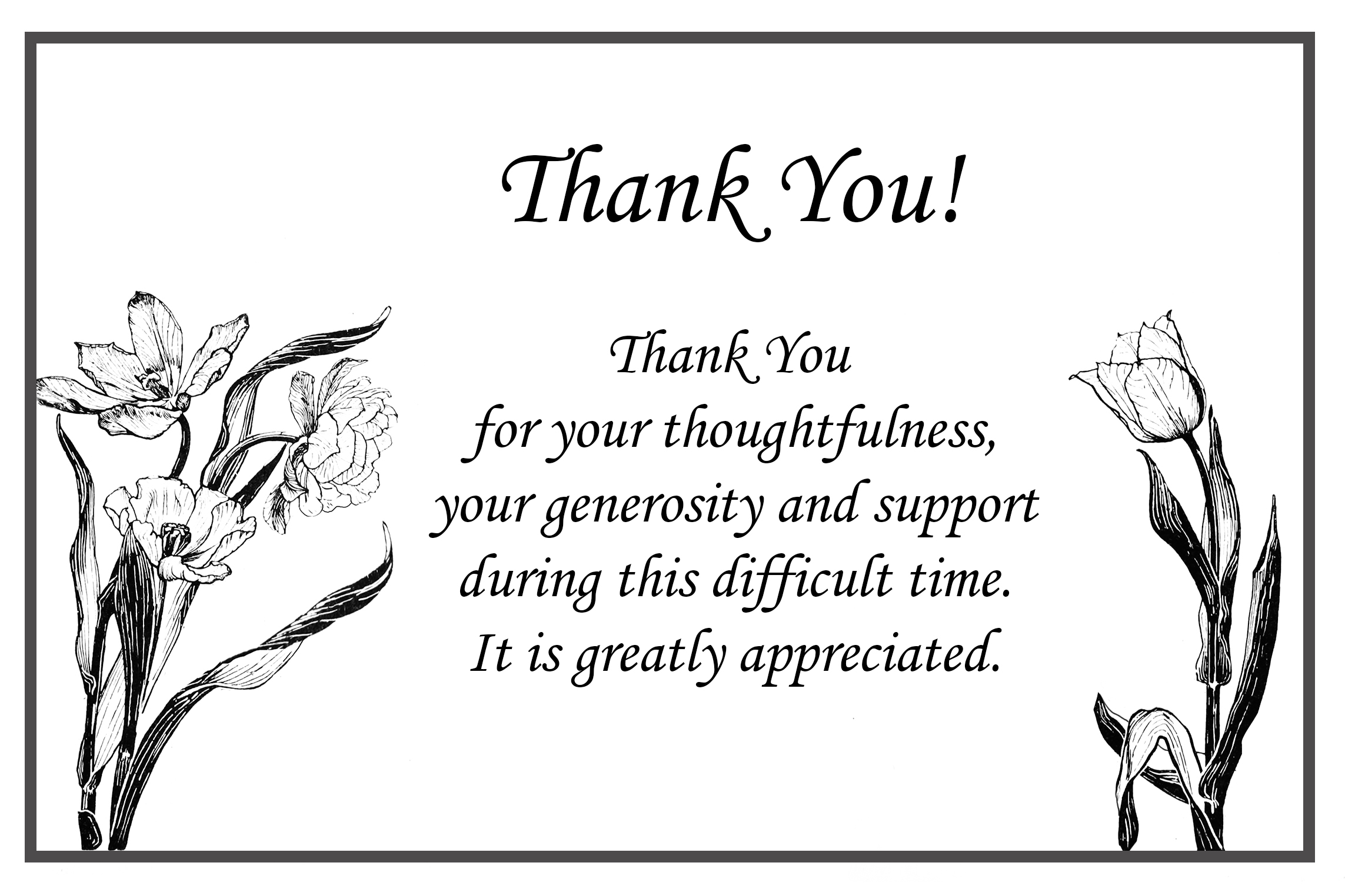 Sample Template Bereavement Thank You Note s1