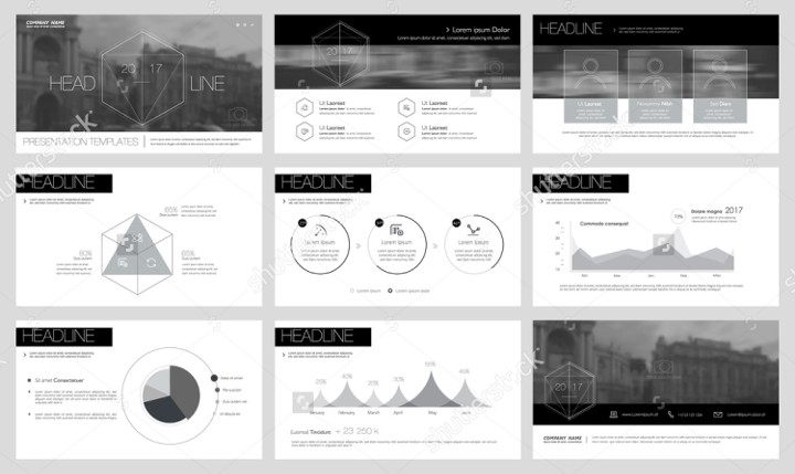 Sample Template Black and White Keynote Slide