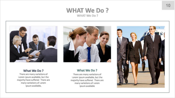 Sample Template Corporate Keynote Presentation Key File
