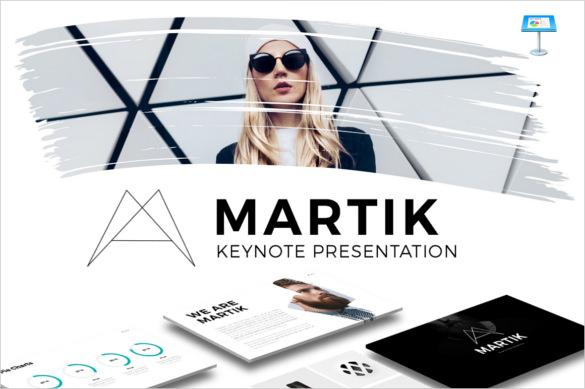 Sample Template Martik Keynote Presentation KEY Design