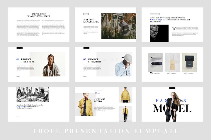 Sample Template Modern Keynote Slide