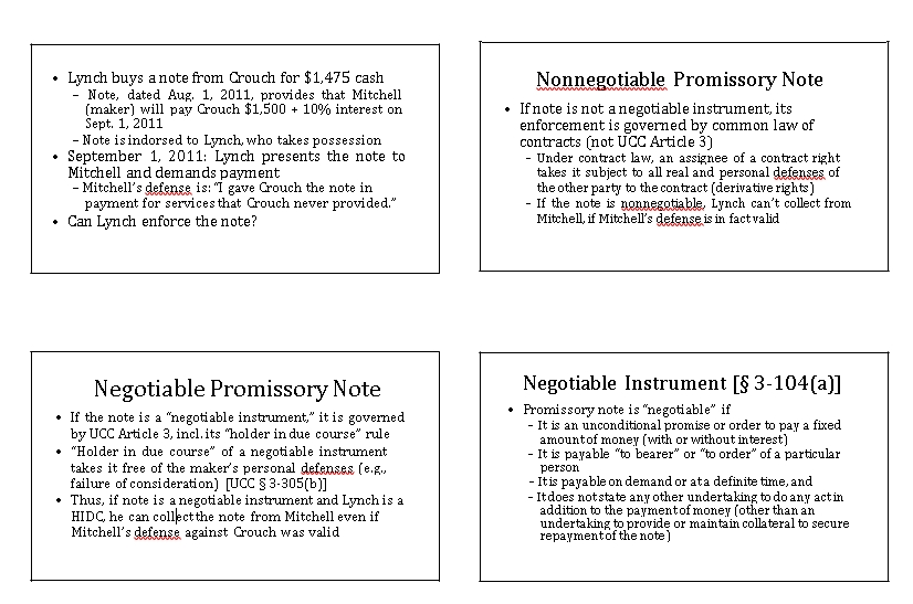 Sample Template Negotiable Promissory Note Negotiable Instrument