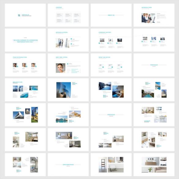 Sample Template Portfoflio KEYNOTE Presentation