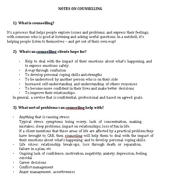 Sample Template What is counselling1
