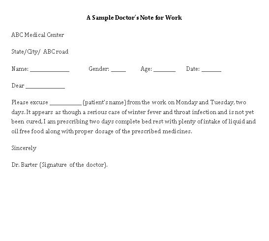 Sample Template a doctor