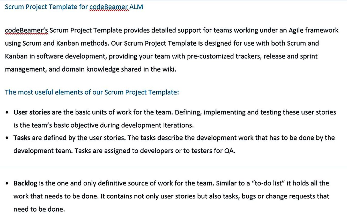 Scrum Project Template