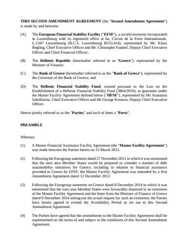 Second Amendment Agreement Template