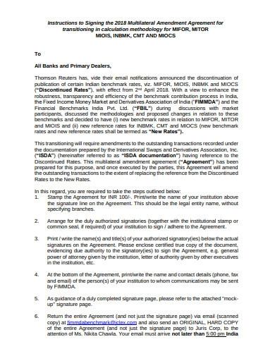 Simple Amendment Agreement Template