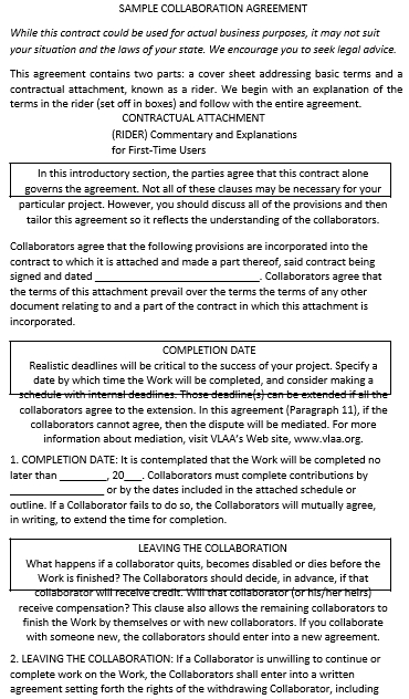 Simple Collaboration Agreement