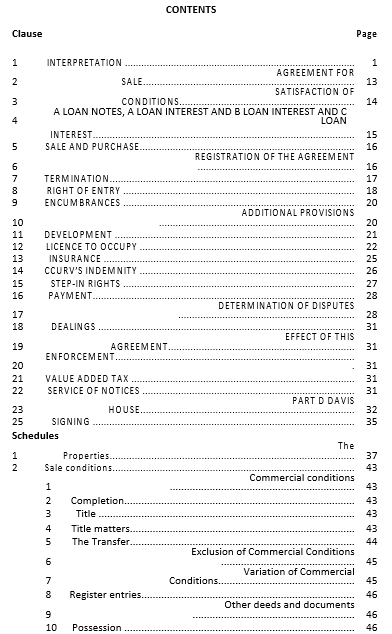 Simple Conditional Sale and Development Agreement Template