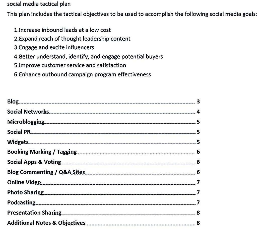 Social Media Marketing Action Plan 1