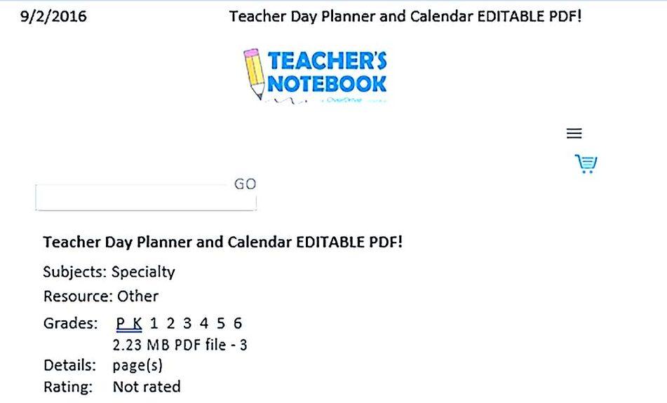 Teacher Daily Planner Templates