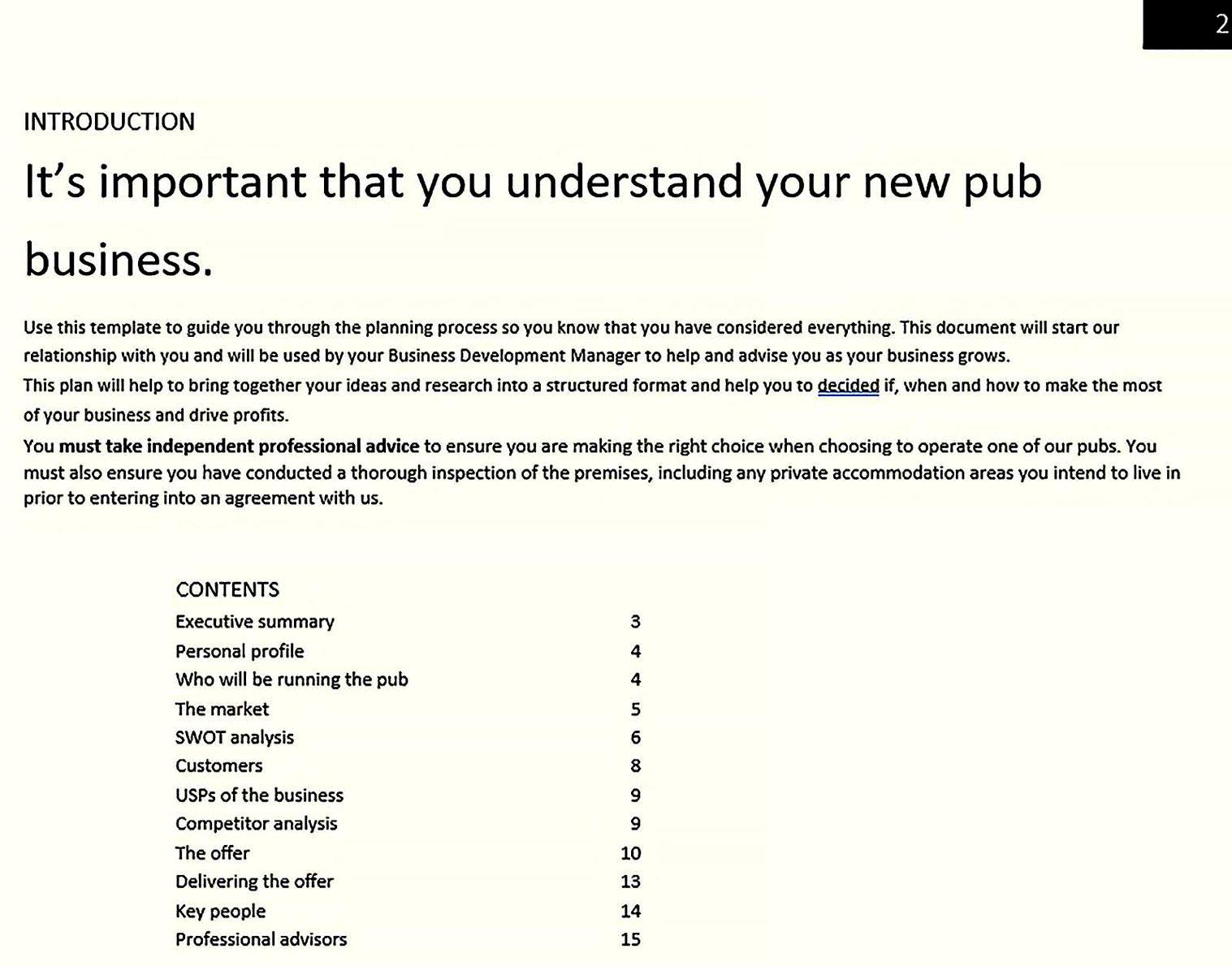 Understanding Your Bar Business Plan 1