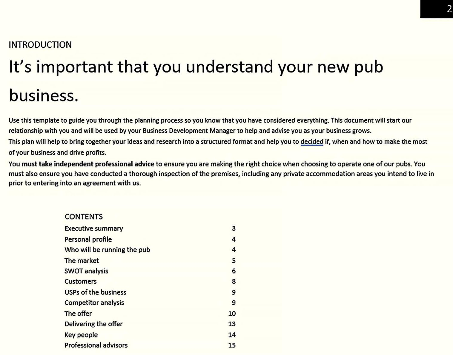 Understanding Your Bar Business Plan