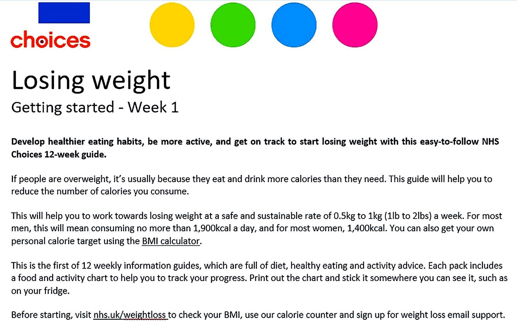 Weight Loss Plan Templates