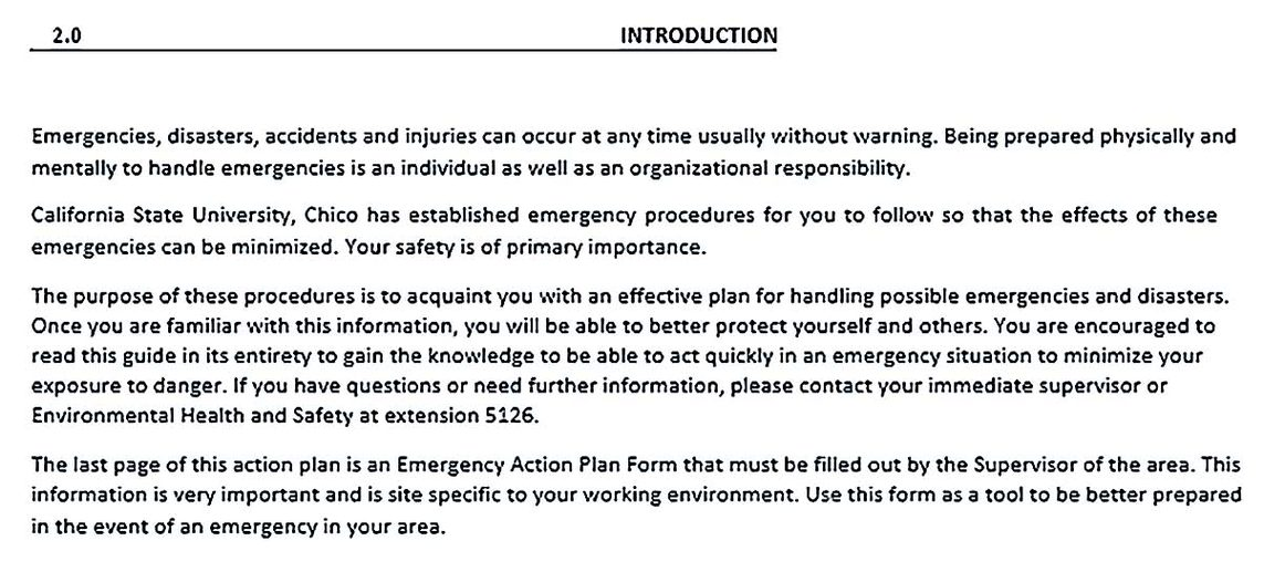 Workplace Emergency Action Plan