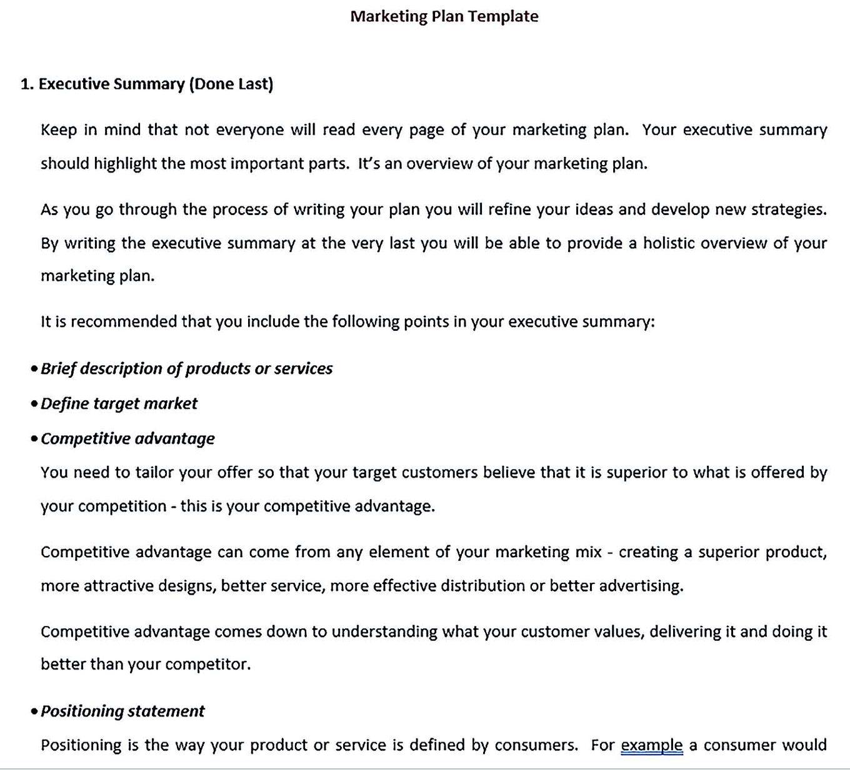 best annual marketing plan template