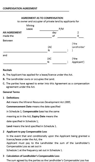 compensation agreement 2014