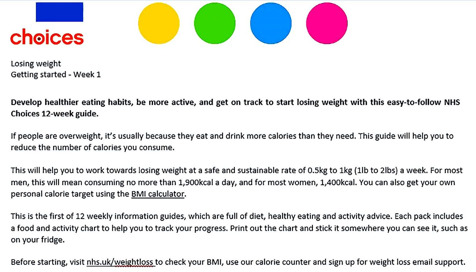 weight loss packet plan