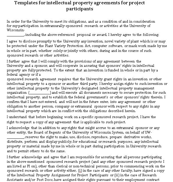 Basic Intellectual Property Agreement Template