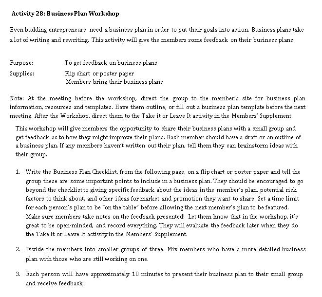 Business Workshop Planning Checklist Template