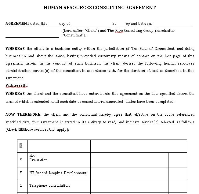 Consultant Agreement