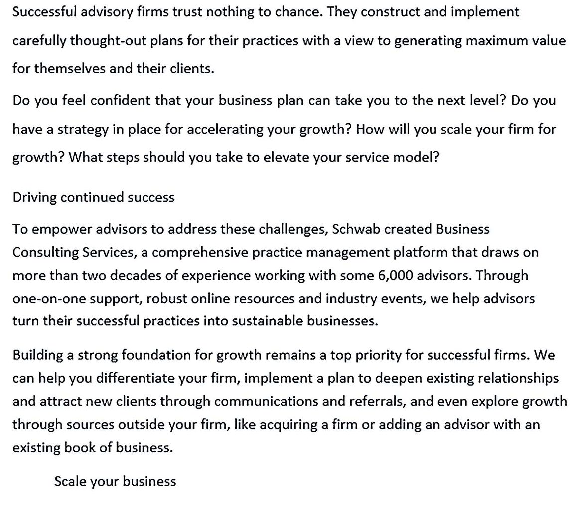 Consulting Services Business Plan Template