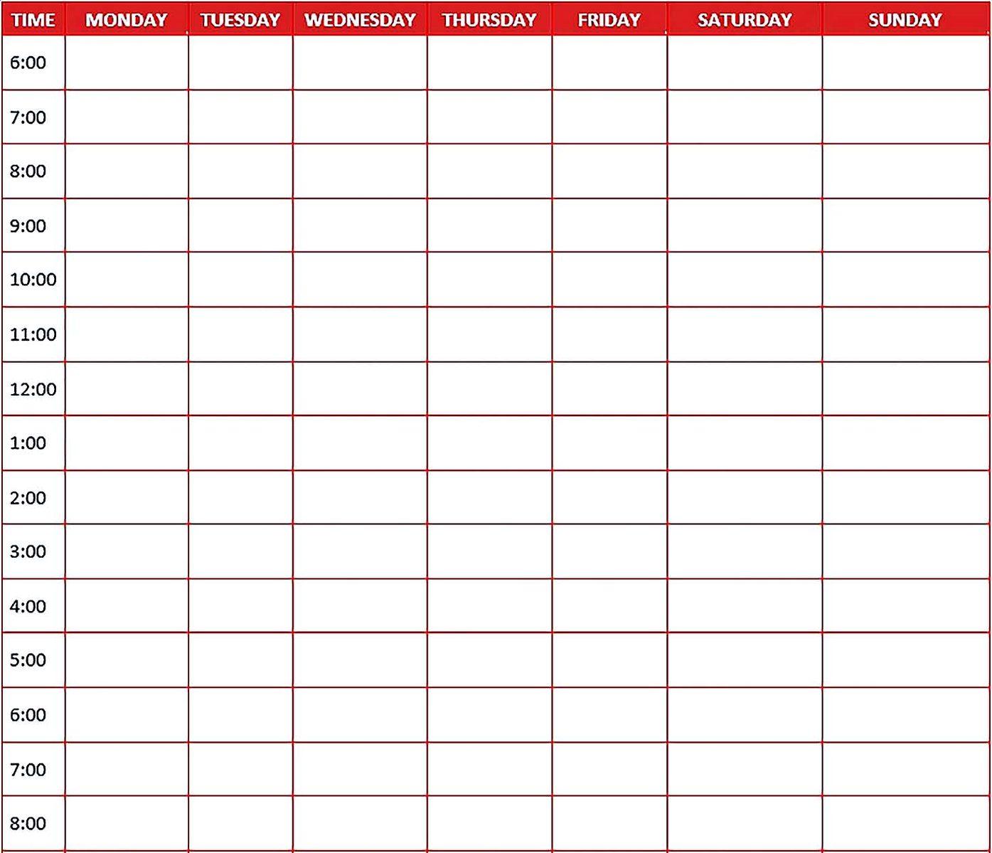 Custom Daily Planner Template