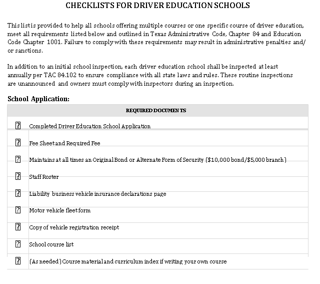 Driver Education School