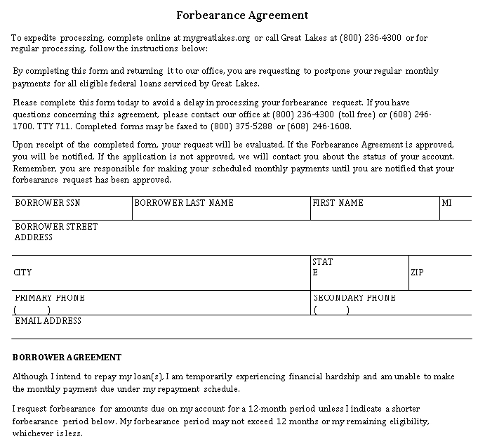 Forbearance Agreement Format