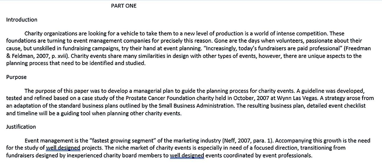 Formal Charity Event Plan Template