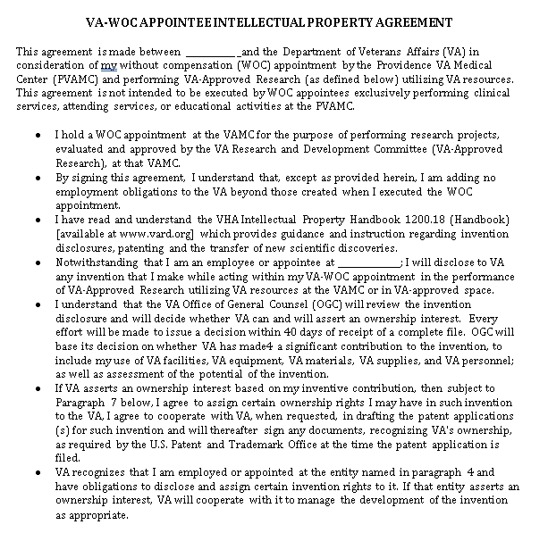 Formal Intellectual Property Agreement Template
