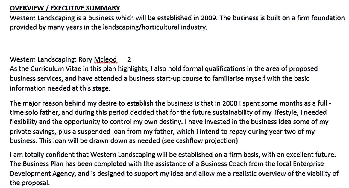 Free Construction Business Plan Template