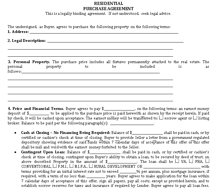 Generic Purchase Agreement