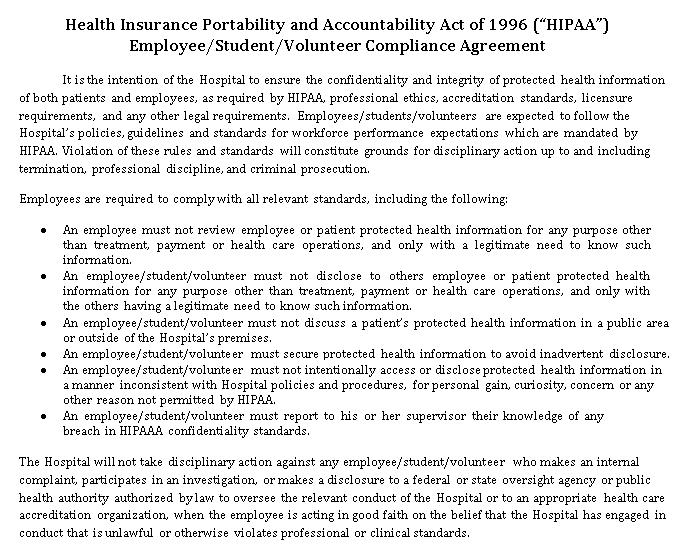 HIPAA Compliance Agreement