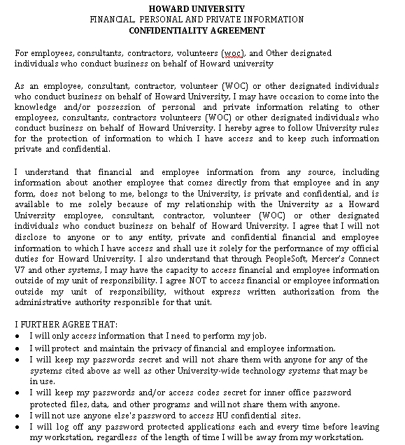 Human Resources Confidentiality Agreement for Secret Strategy