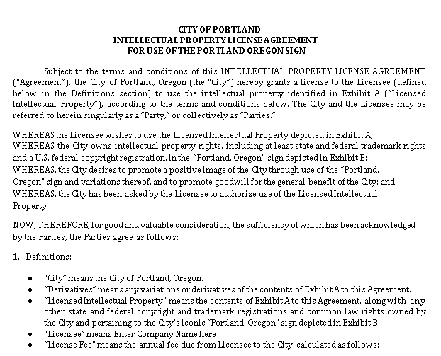 Intellectual Property Licence Agreement in PDF