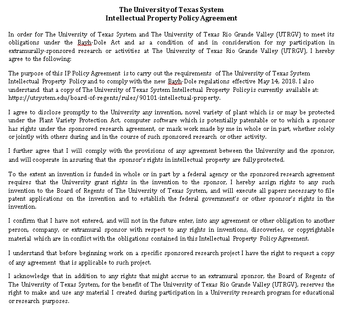 Intellectual Property Policy Agreement in PDF